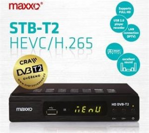 Maxxo T2, Set-top box DVB-T/T2, H.265 (HEVC), Full HD, SCART, HDMI, záznam na USB, LAN